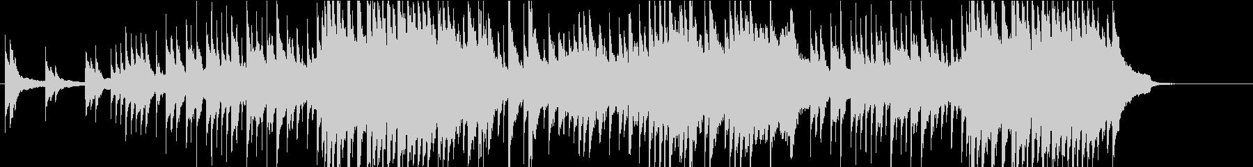 悲しげなピアノソロの未再生の波形