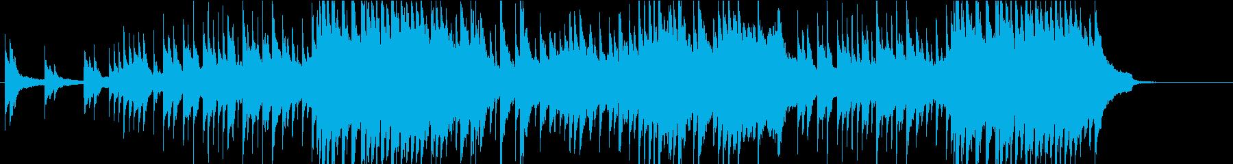 悲しげなピアノソロの再生済みの波形