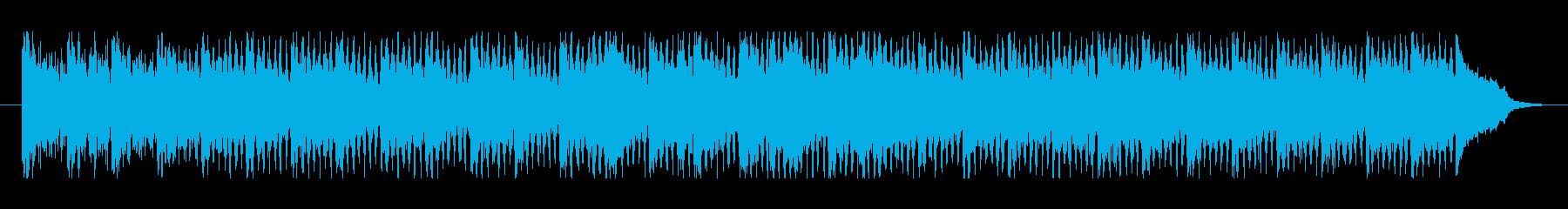 爽やかで元気が出るテクノポップの再生済みの波形