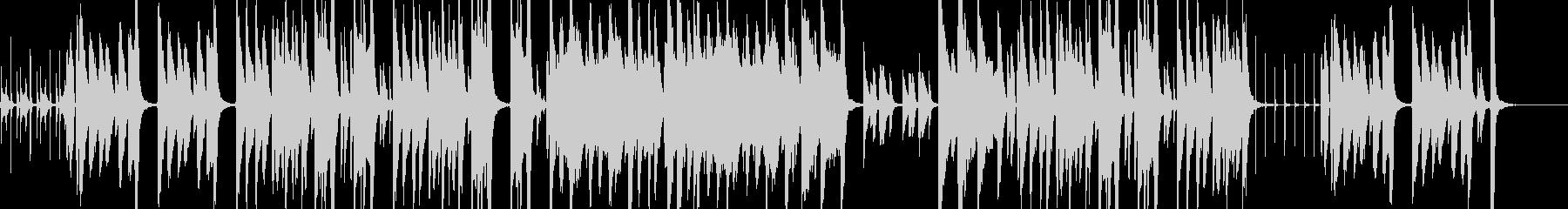 悪戯っぽい・ほのぼの日常なアニメBGM風の未再生の波形