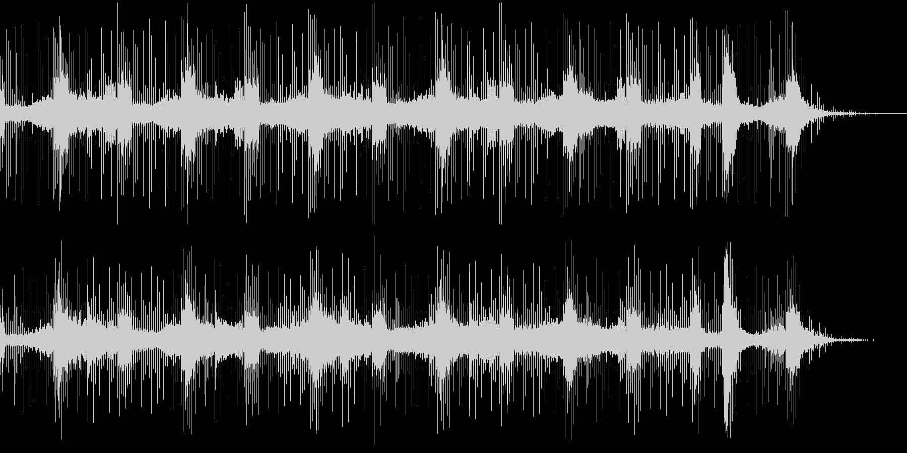 敵地にこっそり侵入するイメージの曲の未再生の波形