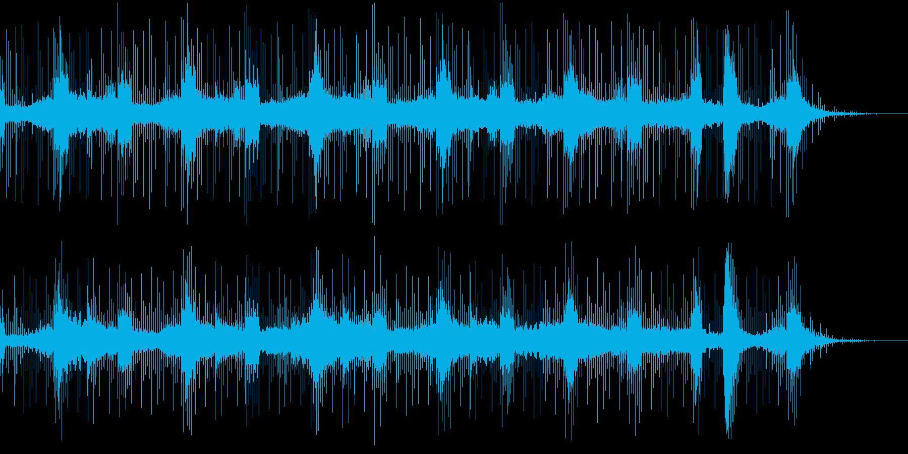敵地にこっそり侵入するイメージの曲の再生済みの波形