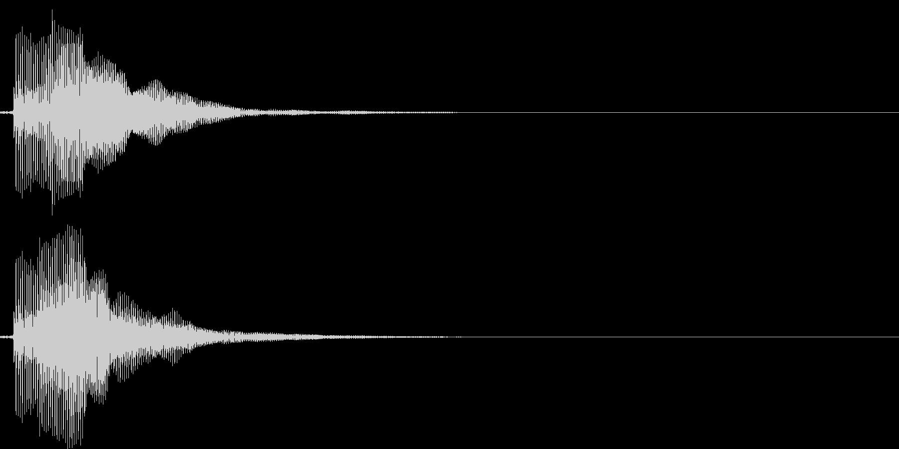 ピ!8bit系の決定/ボタン/クリック1の未再生の波形