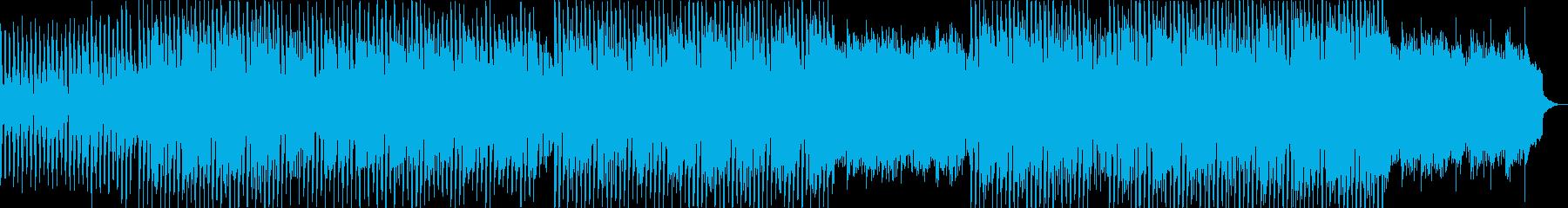 明るく穏やかなポップミュージックの再生済みの波形