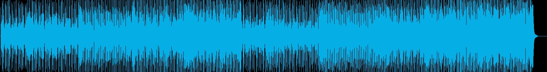 軽快で心踊るテクノミュージックの再生済みの波形