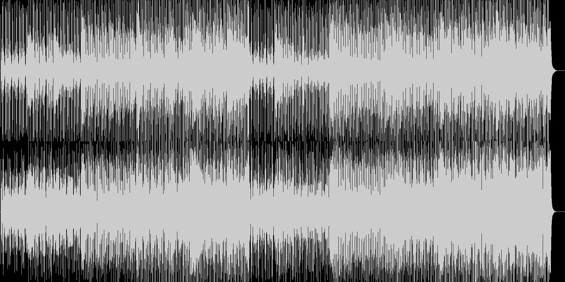 軽快で心踊るテクノミュージックの未再生の波形