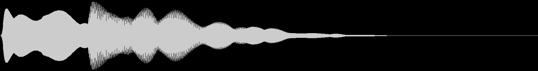 エレベーター上昇風の到着音(ピンポーン)の未再生の波形
