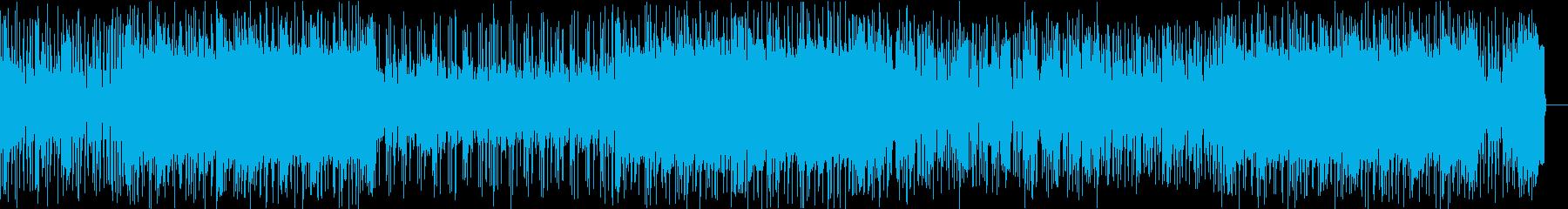 カッコいいファンクロックのギターインストの再生済みの波形