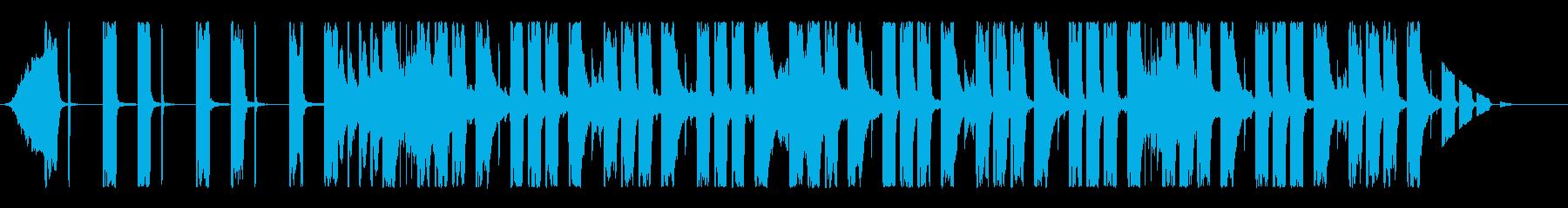しっとり展開するミディアムエレクトロの再生済みの波形