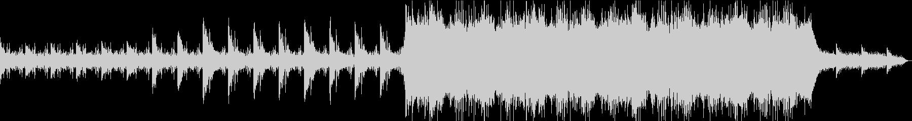 電子世界をイメージしたBGMの未再生の波形