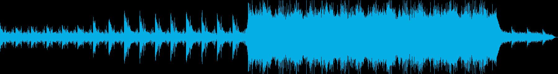 電子世界をイメージしたBGMの再生済みの波形