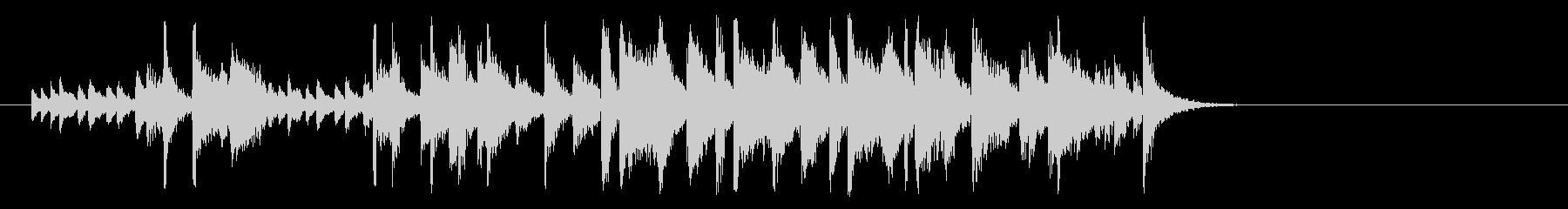 ほのぼのしたポップジャズ(イントロ)の未再生の波形