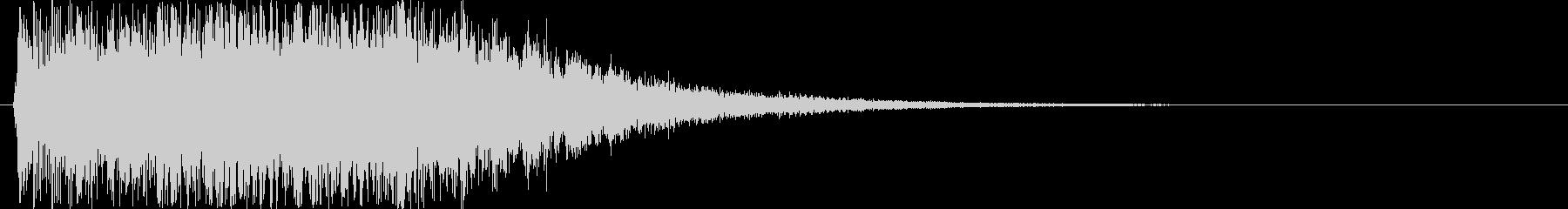 パワーアップ・ダウン 派手めなピコピコ音の未再生の波形