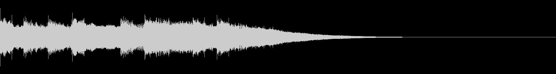 チャイムジングル、オルゴールシャラランの未再生の波形