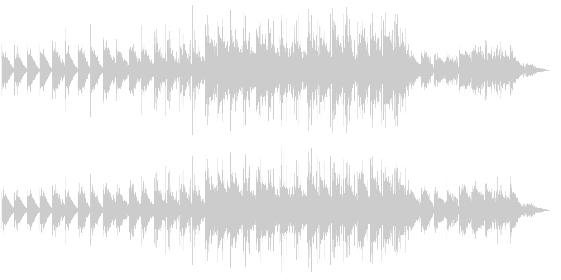 和風 オルゴール ベル 雪エレクトロニカの未再生の波形