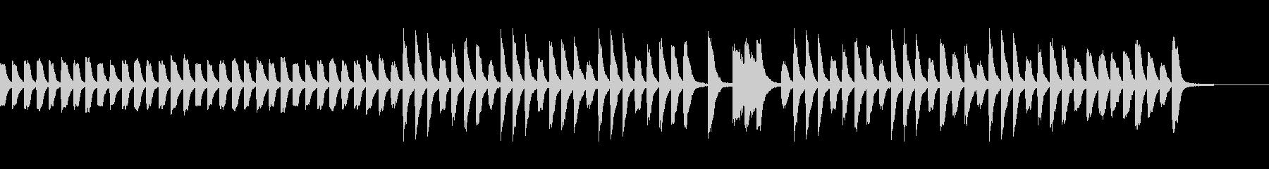ゆったりカワイイほのぼのしたピアノ曲の未再生の波形