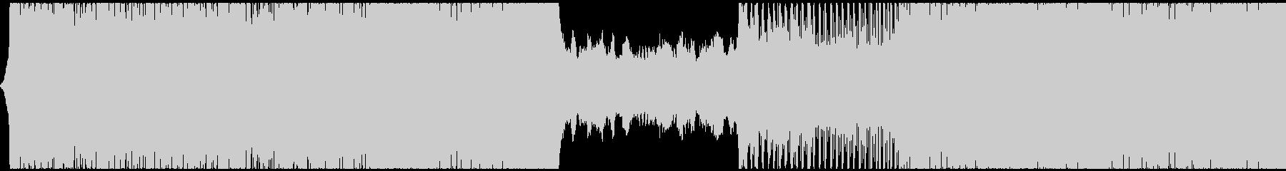 ゲーム用BGM 導入部向けテクノの未再生の波形