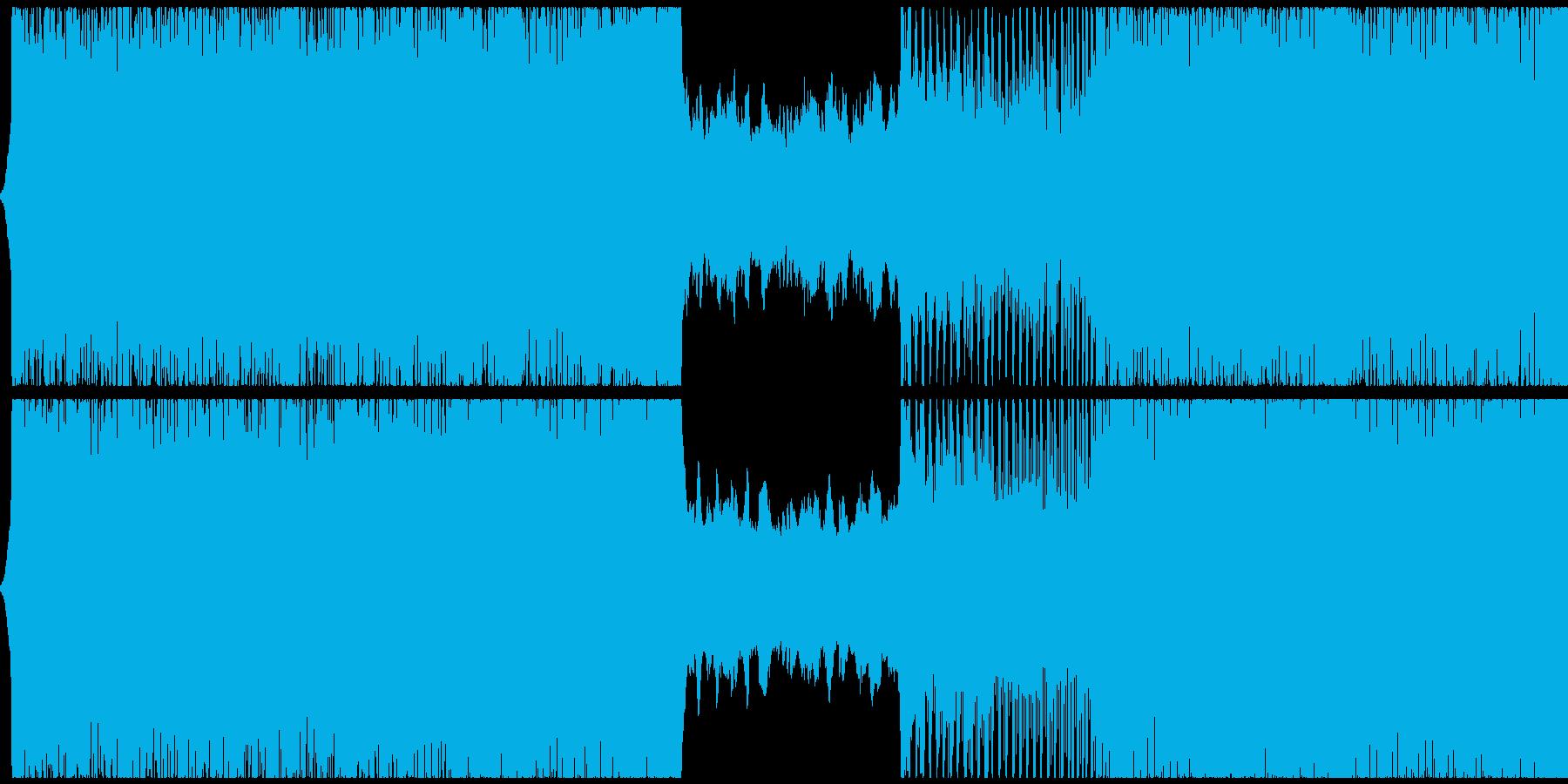 ゲーム用BGM 導入部向けテクノの再生済みの波形