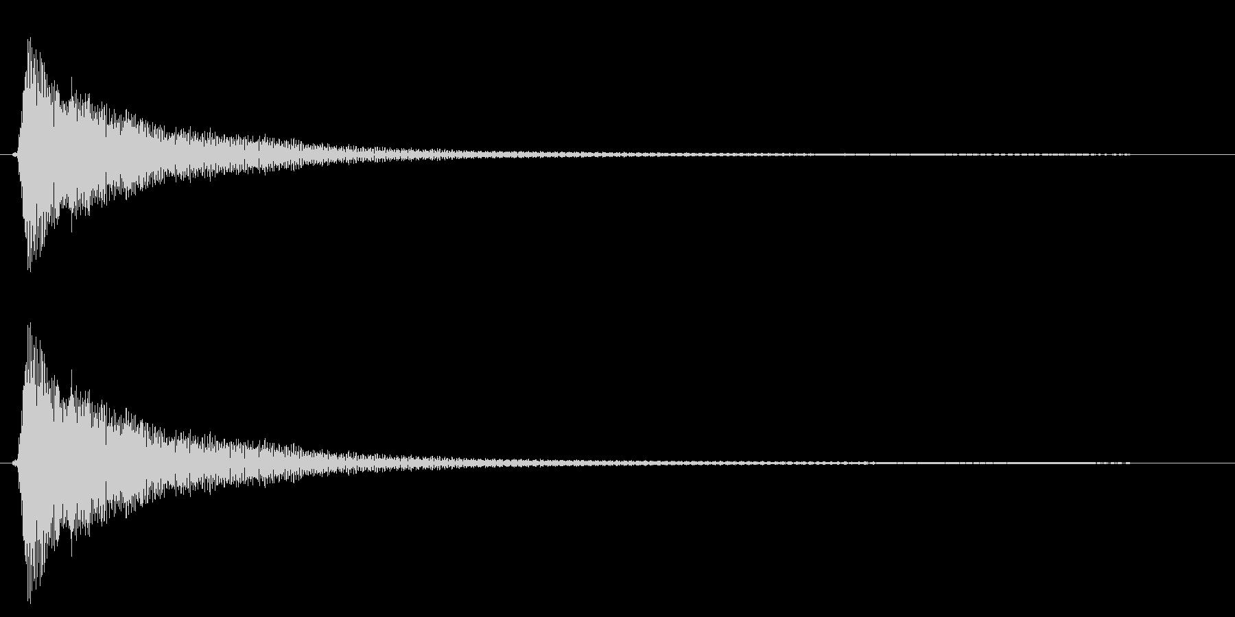 カン(フライパンを叩く音)の未再生の波形