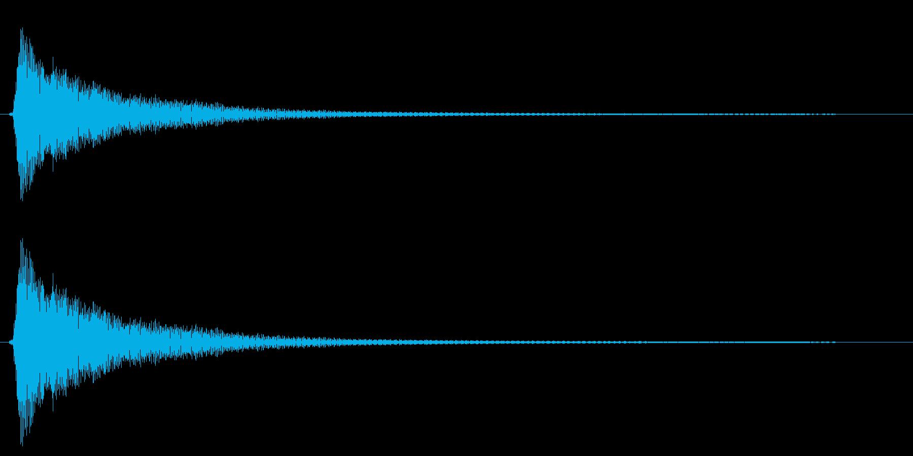 カン(フライパンを叩く音)の再生済みの波形