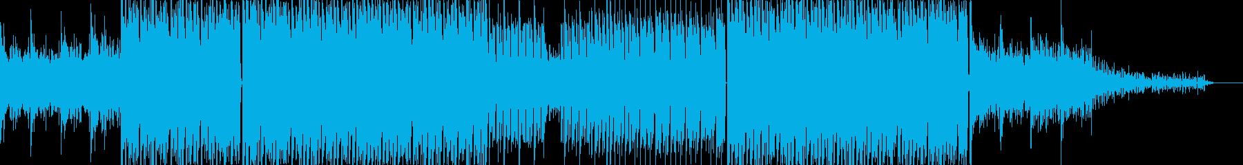 グルーヴ感と透明感のあるテクノの再生済みの波形