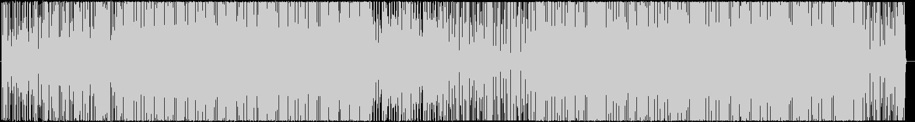 リズミックなエレクトロニカボサノバBGMの未再生の波形