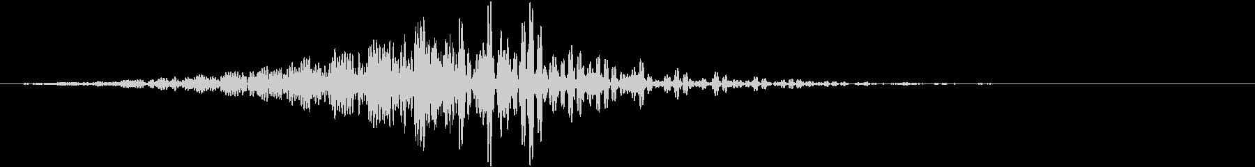 重低音のフェード音3(長め)の未再生の波形