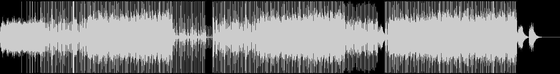 広がるシンセとタイトなビートのBGMの未再生の波形