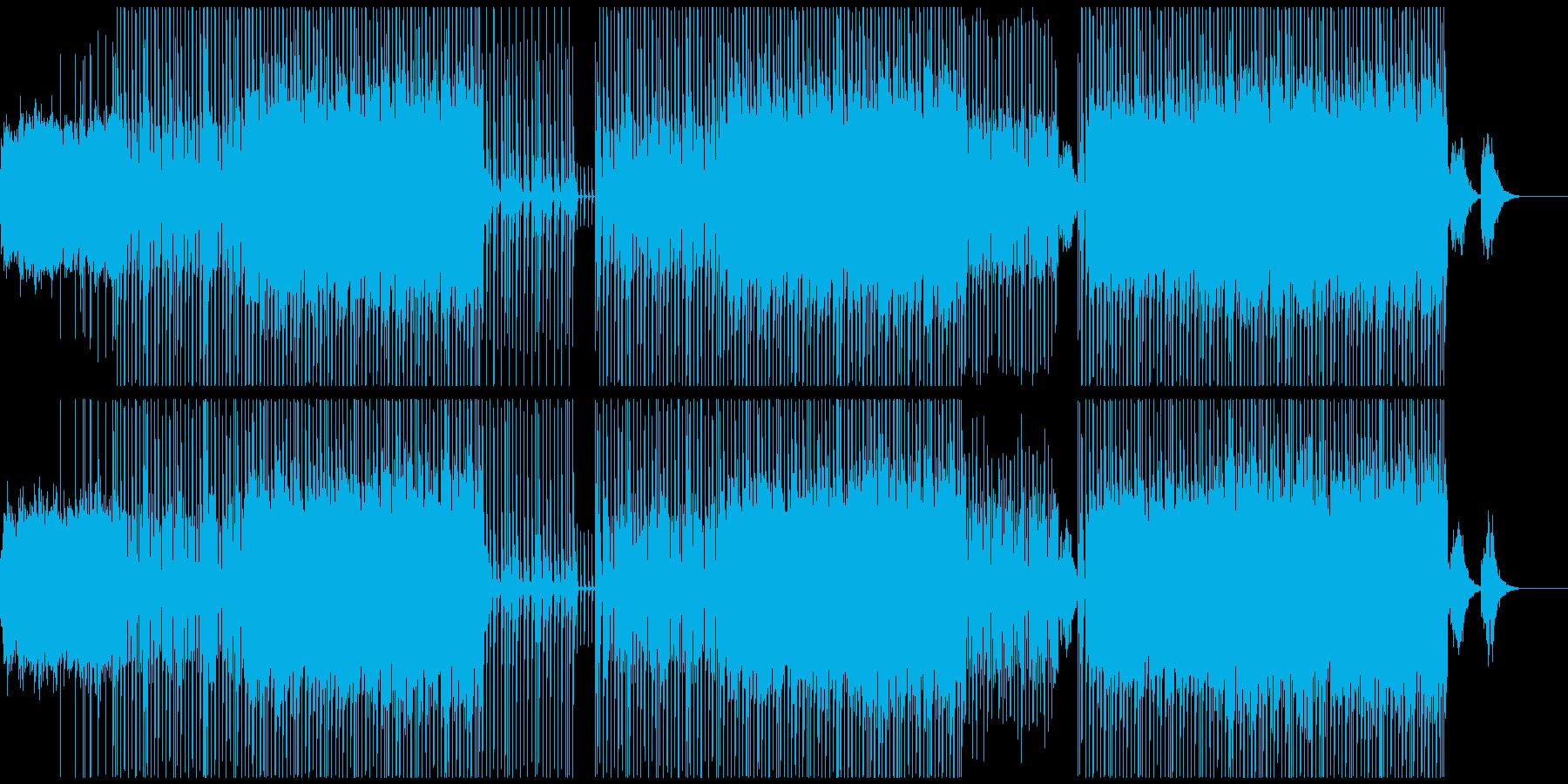 広がるシンセとタイトなビートのBGMの再生済みの波形