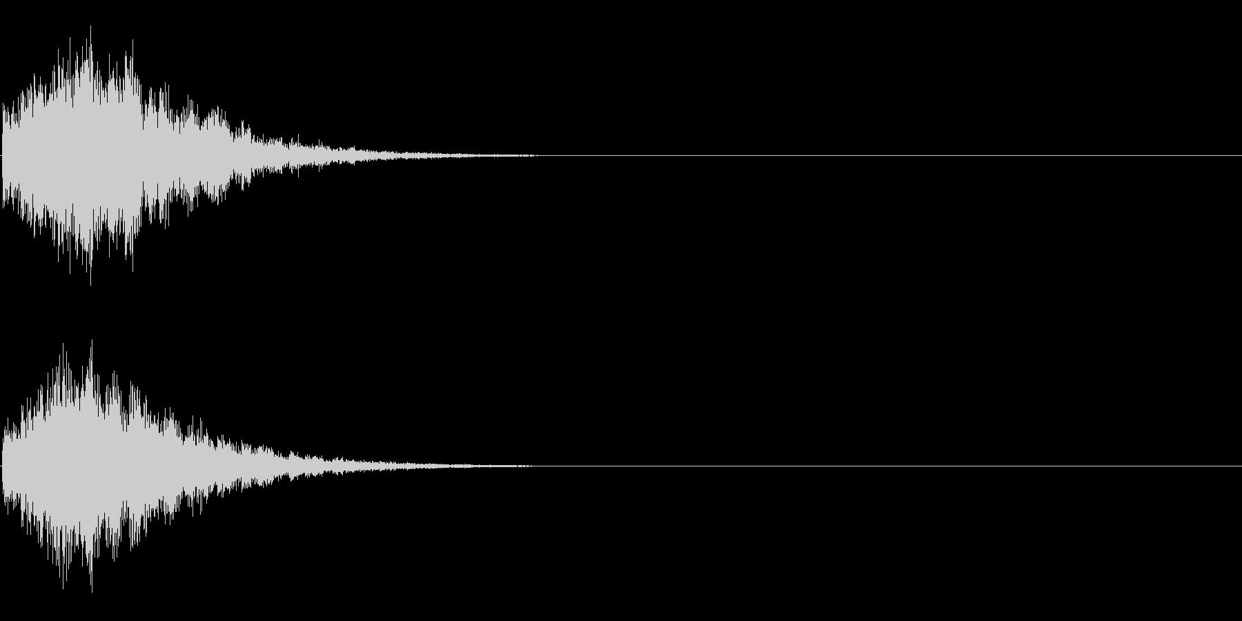 ピロローン(開始・スタート音、決定音)の未再生の波形