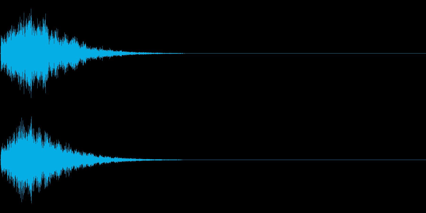 ピロローン(開始・スタート音、決定音)の再生済みの波形