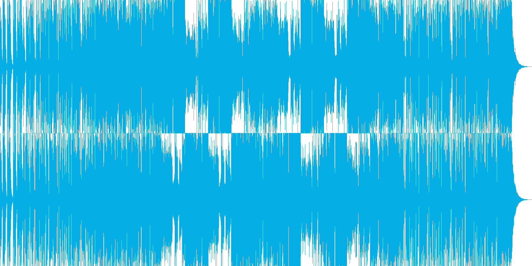 激しいEギタージングル01:30CM用の再生済みの波形