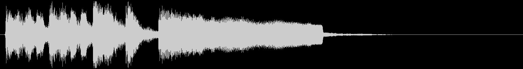 ぐるぐる目が回る雰囲気のサウンドロゴの未再生の波形