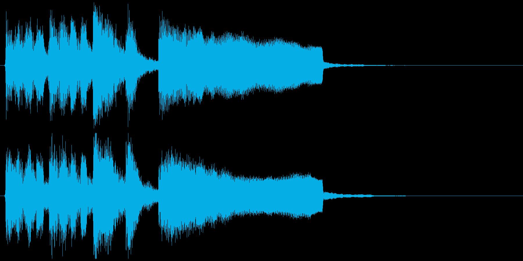 ぐるぐる目が回る雰囲気のサウンドロゴの再生済みの波形