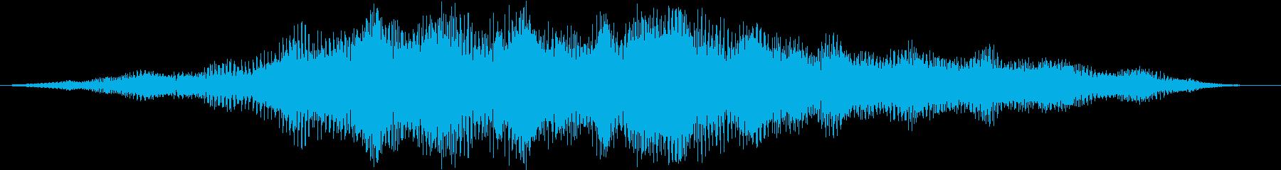 【ホラー】 不気味なタイトルロゴの再生済みの波形