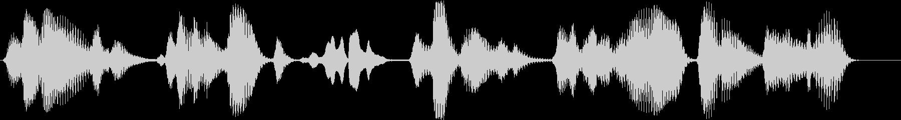 失われた電気音声通信の未再生の波形