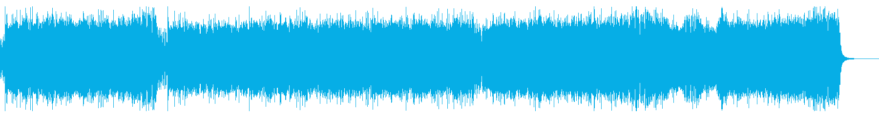 90年代のゲーム音楽風ハード・ロックの再生済みの波形