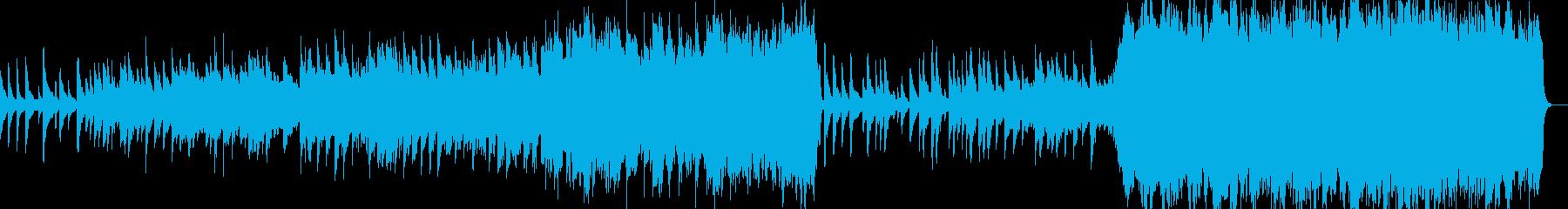映画のエンドロール風クラシカルBGMの再生済みの波形