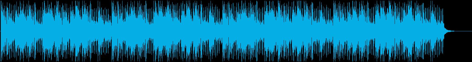 ポップ系 アコギの爽やか四つ打ちビートの再生済みの波形