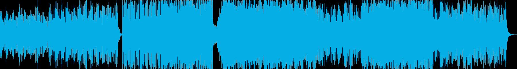 曲中で曲調もBPMも変わるバトル曲の再生済みの波形
