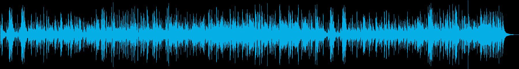 ゆったり爽やかなジャズ楽曲の再生済みの波形