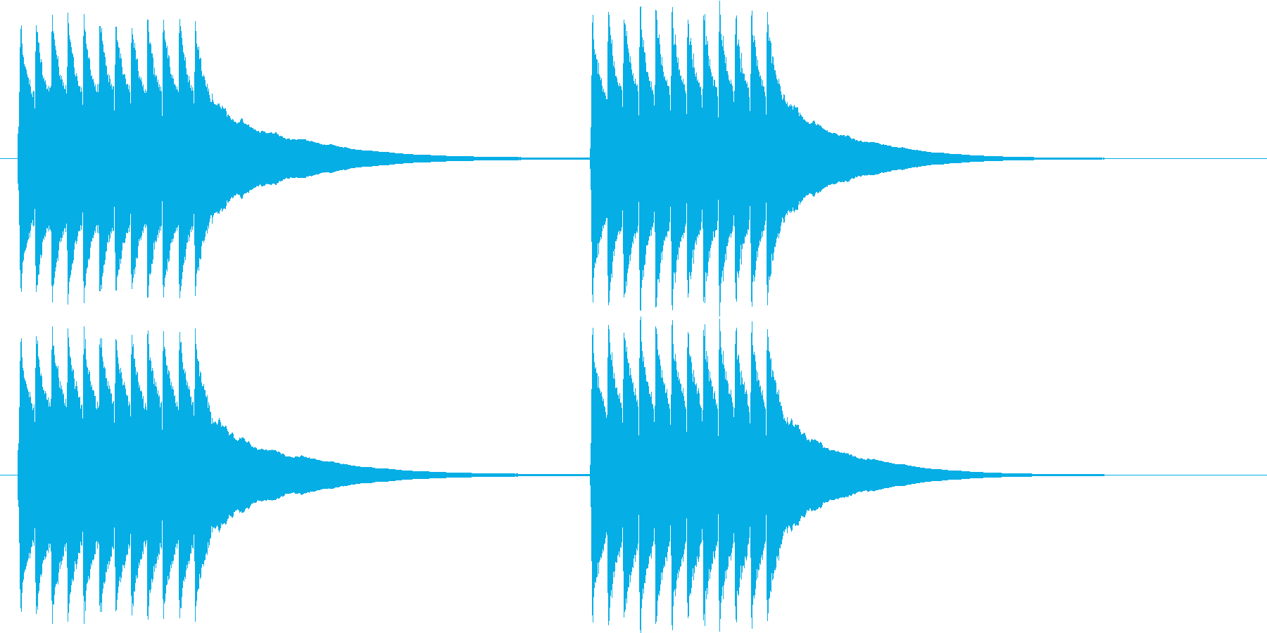 チリリ..。黒電話のベルA(短め)の再生済みの波形