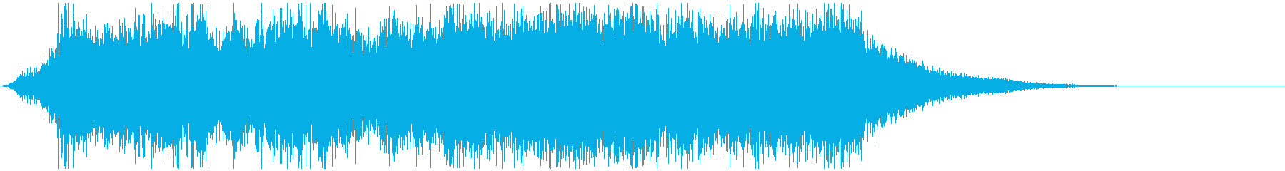 勇ましいオーケストラジングルの再生済みの波形