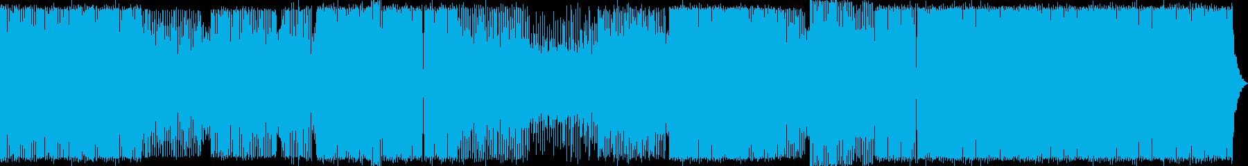 派手!超アゲアゲのハードなEDMの再生済みの波形