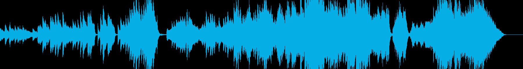 ピアノとストリングス他のしっとりBGMの再生済みの波形