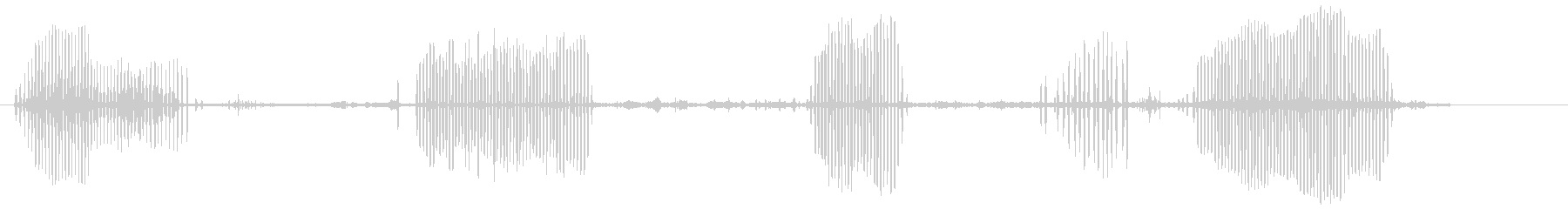 カイツブリの未再生の波形