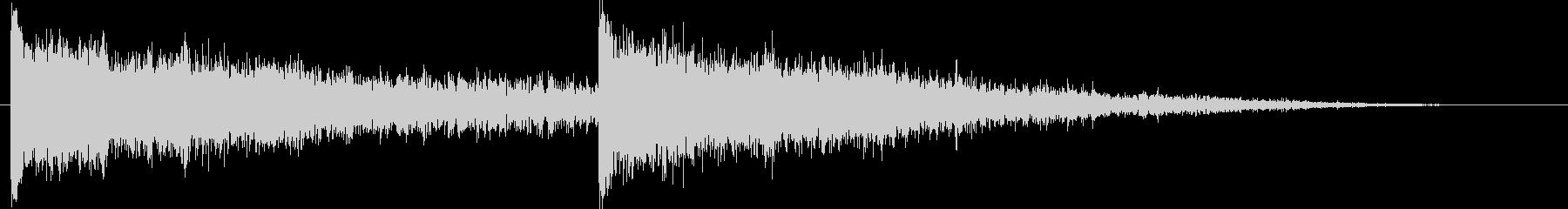 テクノサイバー系スタートクリックジングルの未再生の波形