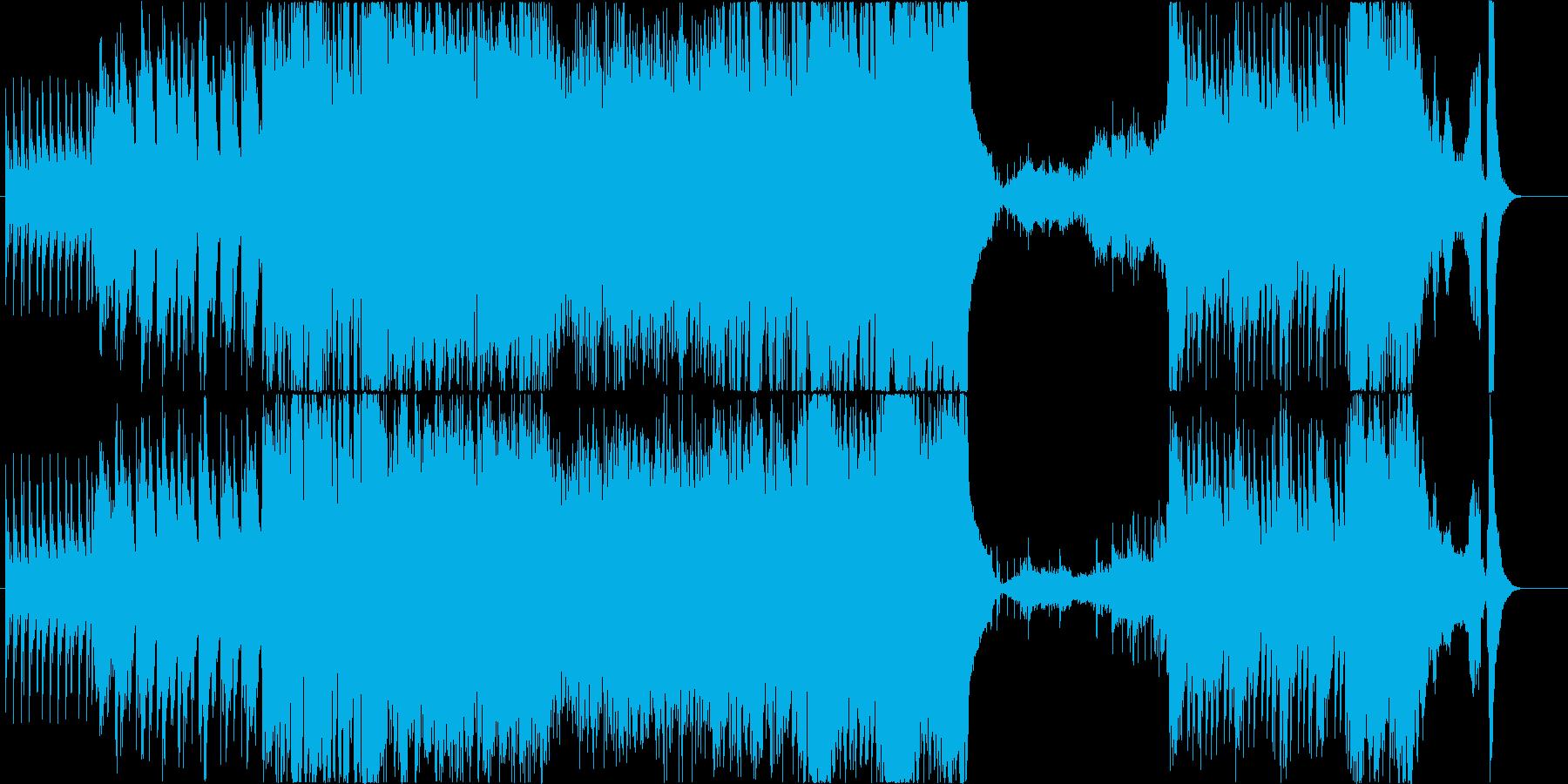 和風で変拍子の戦闘・ボスバトル風の再生済みの波形