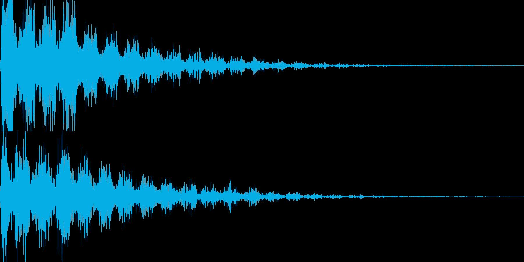 バキューン(ビーム発射音)の再生済みの波形
