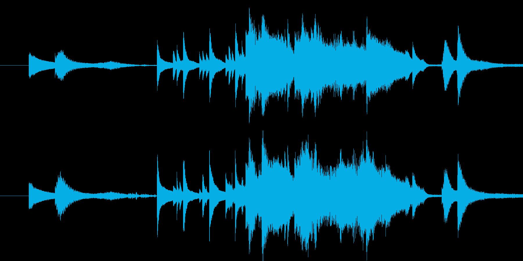 好きだった人に告白するイメージの音楽の再生済みの波形